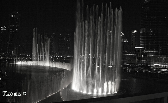 The Dancing Fountain B&W